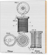 Thread Spool Patent 1877  Wood Print