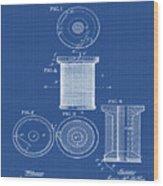 Thread Spool Patent 1877 Blueprint Wood Print