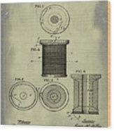 Thread Spool Patent 1877 Weathered Wood Print