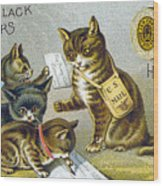 Thread Trade Card, 1880 Wood Print by Granger