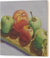 Three Apples Two Tomatoes Wood Print
