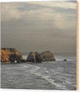 Three Arch Rocks - Oceanside Near Cape Meares - Oregon Wood Print