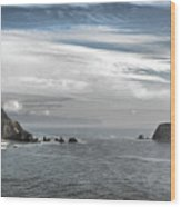 Three Arch Rocks National Wildlife Refuge Near Cape Meares Oregon Wood Print by Christine Till