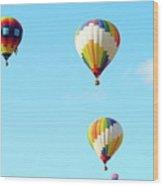 Three Balloons Wood Print