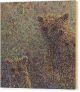 Three Bears Wood Print