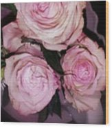 Three Beautiful Roses Wood Print