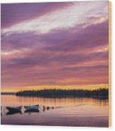 Three Boats In French Village, Nova Scotia #2 Wood Print