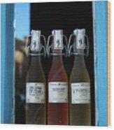 Three Bottles Of Liqueur Wood Print