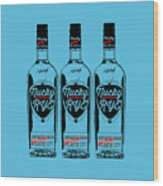Three Bottles Of Nucky Rye Tee Wood Print