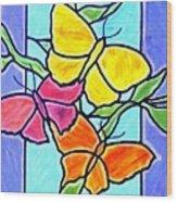 Three Butterflies Wood Print
