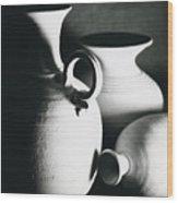 Three Clay Jars 1 Wood Print
