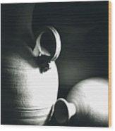 Three Clay Jars 3 Wood Print
