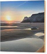 Three Cliffs Bay 2 Wood Print