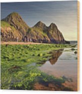 Three Cliffs Bay 3 Wood Print