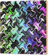 Three-d Dimensional Abstract Design Wood Print