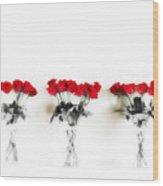 Three Dozen Roses Wood Print