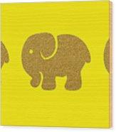 Three Elephants Wood Print