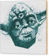 Three Eyed Yoda Wood Print