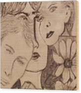 Three Faces Wood Print