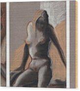 Three Figures - Triptych Wood Print