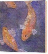 Three Fish Wood Print