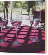 Three For Wine Wood Print