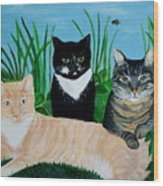 Three Furry Friends Wood Print