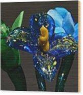 Three Glass Flowers Wood Print