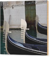 Three Gondolas Wood Print