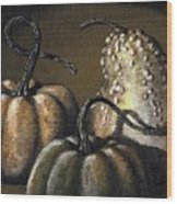 Three Gourds Wood Print