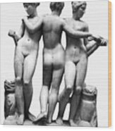 Three Graces Wood Print