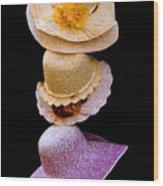 Three Hats Wood Print