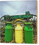 Three Jugs Wood Print by Dale Stillman