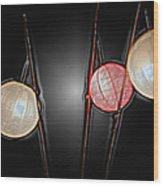 Three Lanterns Wood Print