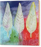Three Leaves Of Good Wood Print by Linda Woods