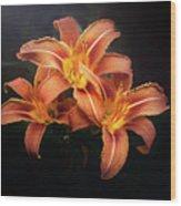 Three Lilies Wood Print