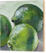Three Limes Wood Print