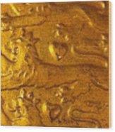 Three Lions Wood Print