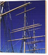 Three Mast Sailing Rig Wood Print
