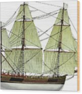 Three Masts Commercial 1760 Wood Print