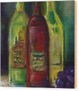 Three More Bottles Of Wine Wood Print