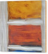 Three Muses Abstract Painting Wood Print