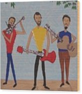 Three Musicians Wood Print