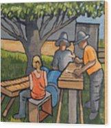 Three Musicians Wood Print