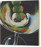 Three Olive Martini IIi  Wood Print