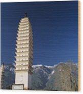 Three Pagodas Wood Print