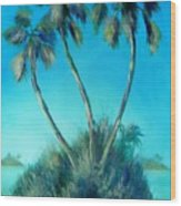 Three Palm Island Wood Print