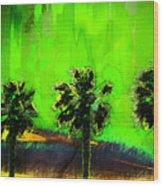 Three Palms IIi Wood Print