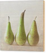 Three Pears Wood Print by Peter Chadwick LRPS
