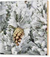 Three Pinecones Wood Print